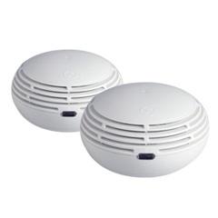 ensemble de deux détecteurs de fumée pour la téléassistance médicalisée à domicile